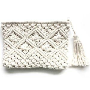 Anthropologie Macrame Vintage style -clutch purse